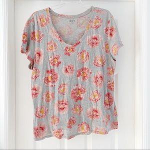 Loft Outlet Floral T-shirt XL